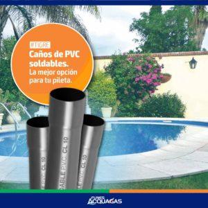 Caños de PVC soldables marca Tigre en Funes Acquagas.